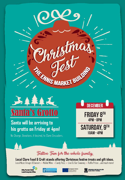 Christmas fest at the Ennis Market building