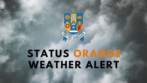 Status Orange Weather Alert