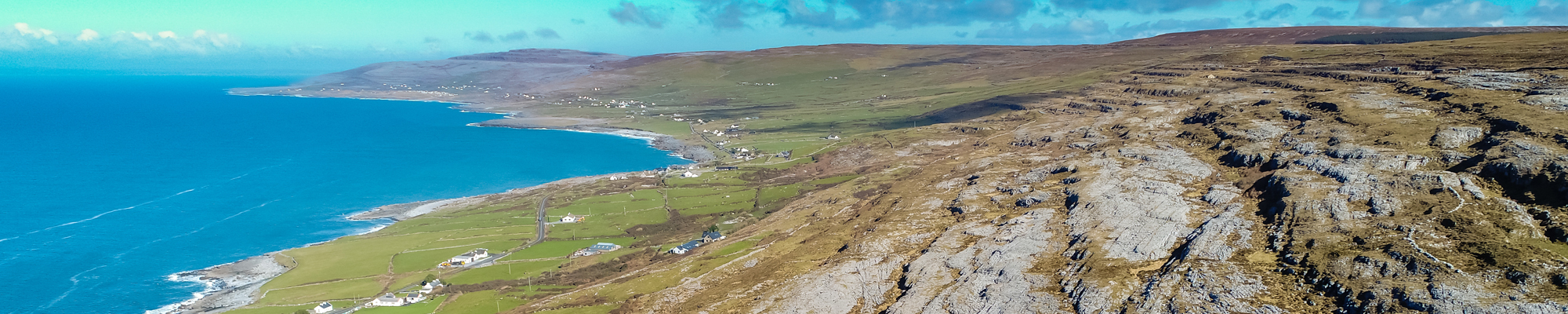 Aerial view over Fanore and Blackhead